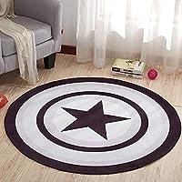 YETUGE 絨毯カーペット ラグカーペット ラグマット  洗濯機  洗える 円形 短毛足 さらさら スベリ止め 床暖房対応 おしゃれ