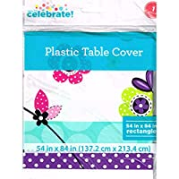 Bright Polka Dot Owl Plastic Table Cover (1ct)