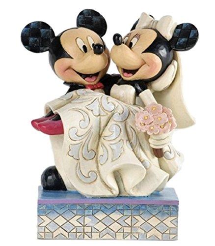 에너지 스코  disney 디즈니 미키 미니 웨딩 피규어 결혼식 목각풍 [결혼 축하 결혼 기념 웰컴 돌] [병행수입품]-