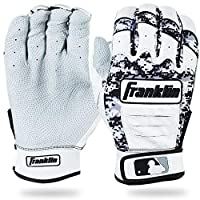(Adult X-Large, Pearl/Black Camo) - Franklin Sports MLB CFX Pro Digi Series Batting Gloves