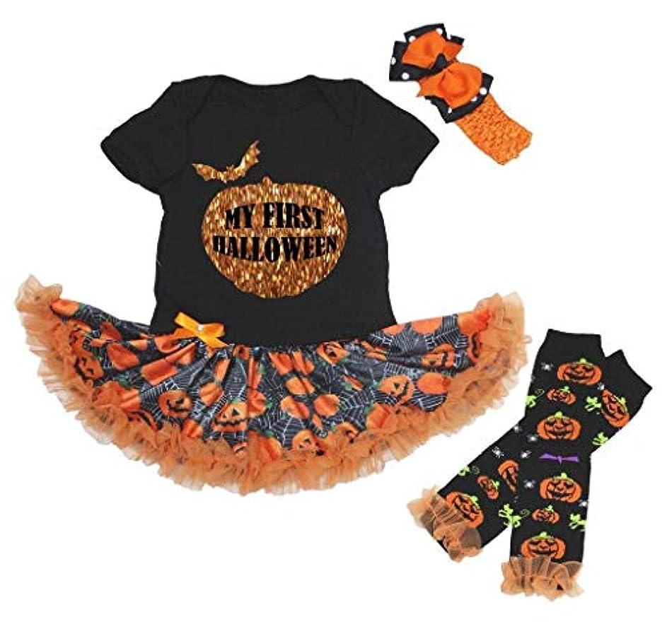 生き物座る毎年[キッズコーナー] ハロウィーンのベビー服, ワンピースドレス, My First Halloween, ブラックロンパース, カボチャチュチュ, レッグウォーマー Nb-18m (Medium) [並行輸入品]