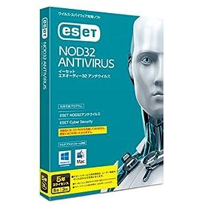 ESET NOD32 アンチウイルス (最新版) | 3台5年 | Win/Mac対応