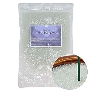 日本製 香炉灰 ビーズ 500g クリスタルビーズ 線香灰