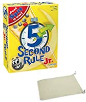 5 Second Rule Jr Junior Board Game Bundle with Chessex Drawstring Bag [並行輸入品]