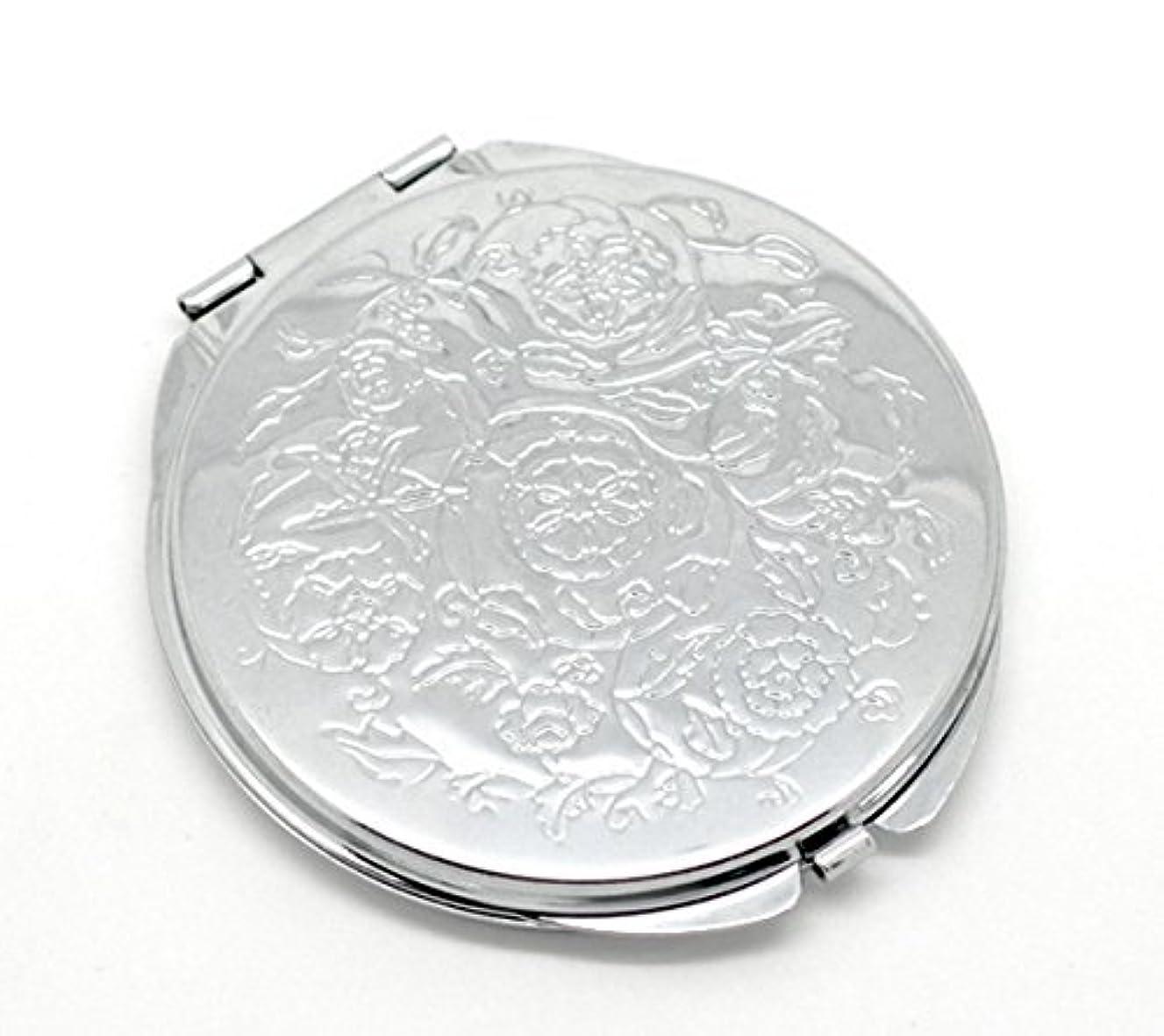 対象とにかく南極HOUSWEETY 無地コンパクトミラー プチ手鏡 ハンドミラー 携帯ミラー 丸型 化粧箱入り 折りたたみ おしゃれ レディース 小物 (デザインC)