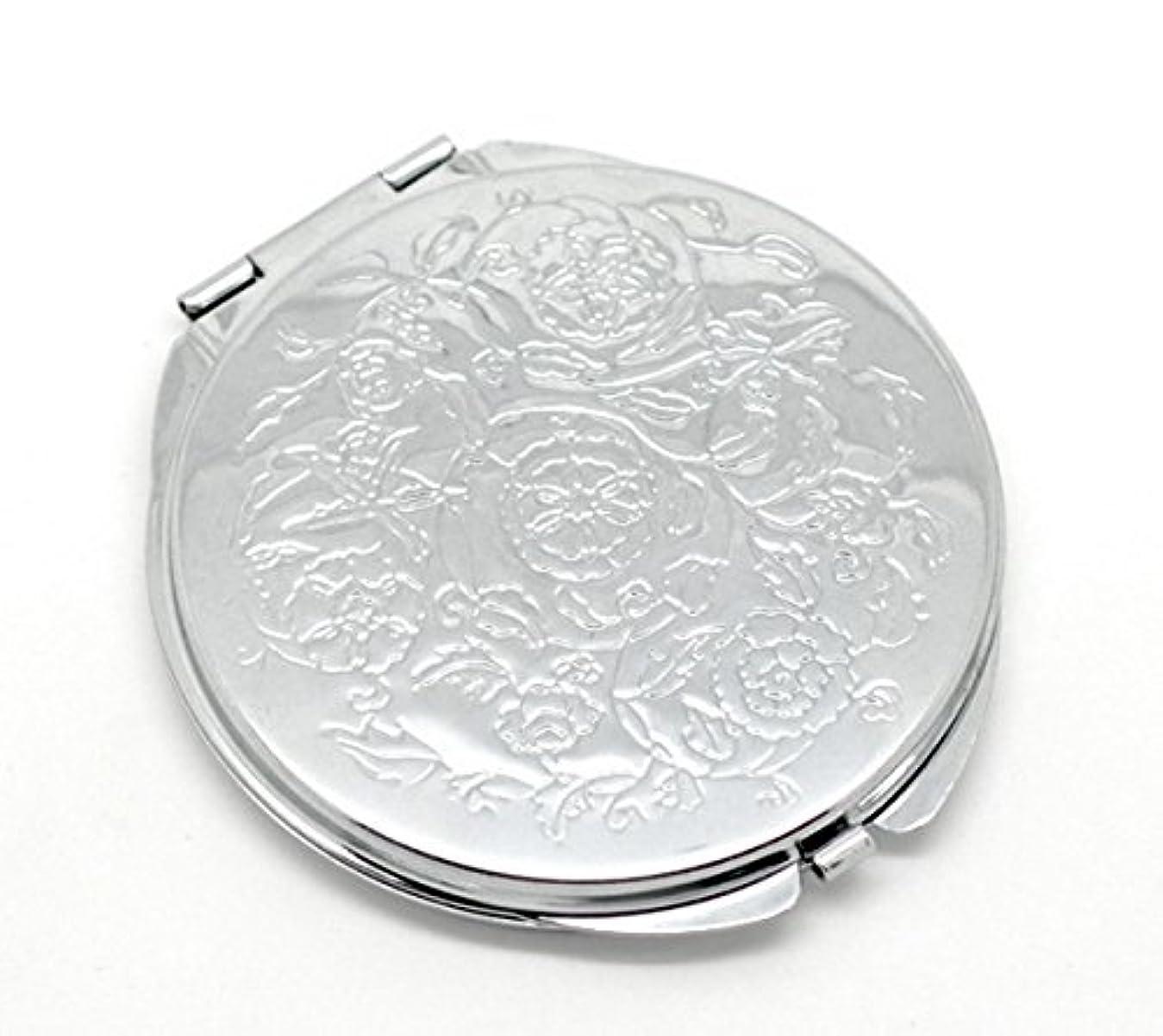 香港多数の四分円HOUSWEETY 無地コンパクトミラー プチ手鏡 ハンドミラー 携帯ミラー 丸型 化粧箱入り 折りたたみ おしゃれ レディース 小物 (デザインC)