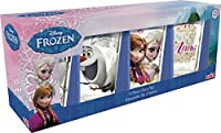 Zak Designs Juice Glasses with Frozen Graphics (Set of 4), Elsa, Anna and Olaf, 300ml Each
