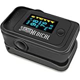 Santamedical Dual Color OLED Pulse Oximeter Fingertip, Blood Oxygen Saturation Monitor (SpO2) with Case, Batteries and Lanyar