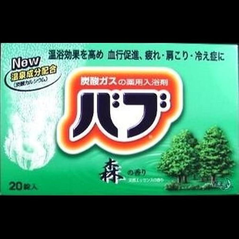 進化シュリンク小石【まとめ買い】花王 バブ 森の香り 20錠 (医薬部外品) ×2セット