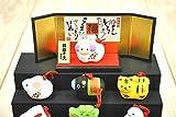 薬師窯 錦彩招福寿々 十二支段飾り97(土鈴・小)干支正月飾り 申置物 猿
