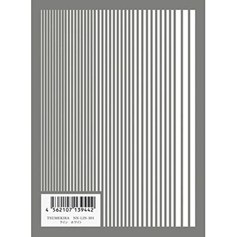 カルシウムインカ帝国水差しツメキラ(TSUMEKIRA) ネイル用シール ライン ホワイト NN-LIN-301