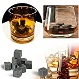 Eremi(TM)新9PCS /パック18ミリメートルウイスキーアイス・ストーンズ、ドリンククーラーキューブビールはポーチ3色で花崗岩ロックスOpitonal