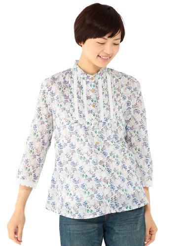花柄プリントスタンドカラーシャツ デコイ