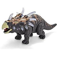 バッテリーPoweredウォーキング恐竜Triceratops Toy Figure with Manyライト&サウンド、Real Movement