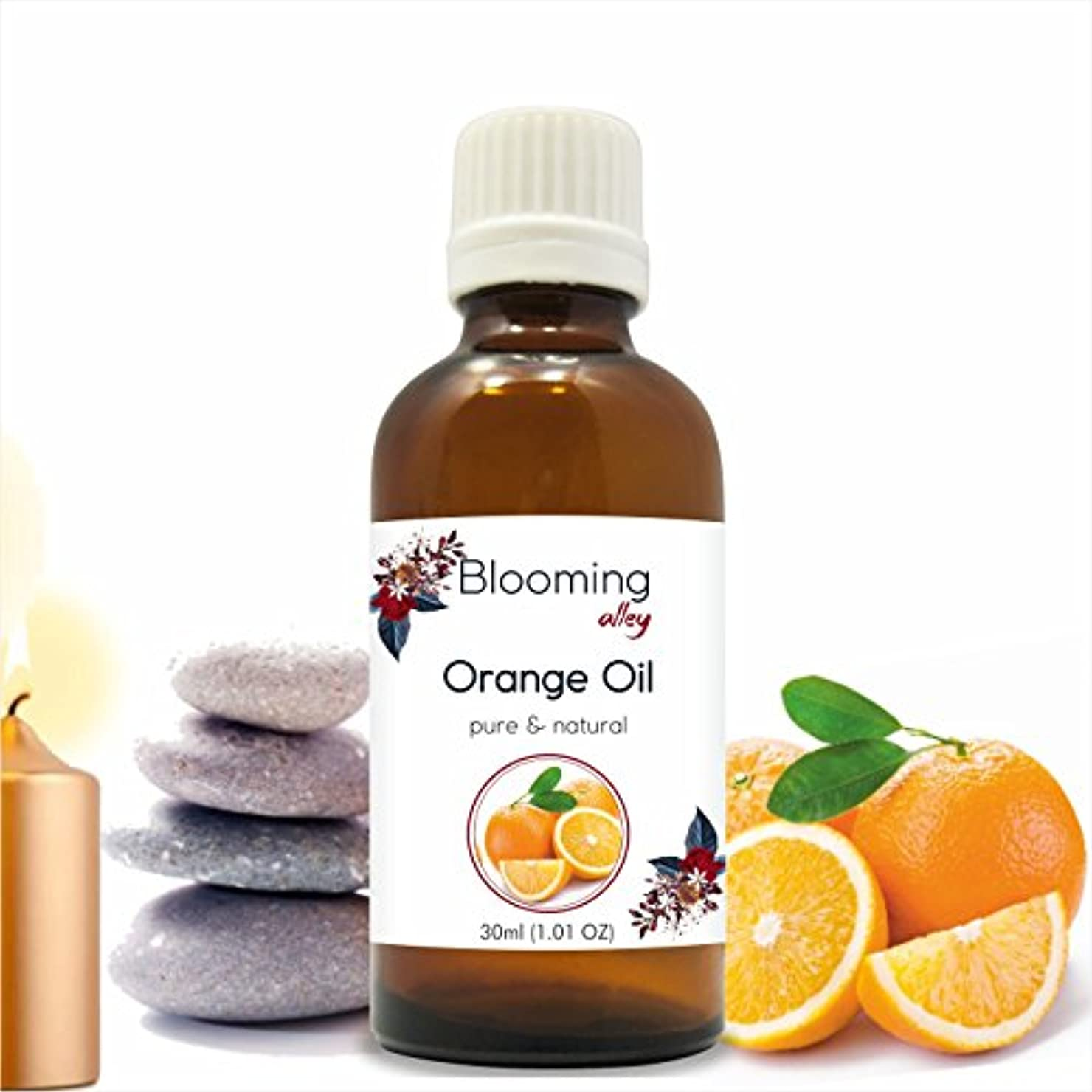 技術者夜内側Orange Oil (Citrus Aurantium) Essential Oil 30 ml or 1.0 Fl Oz by Blooming Alley