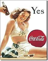 【Beach Girl Yes Coke】 コカ・コーラ Coka Cola アメリカンブリキ看板
