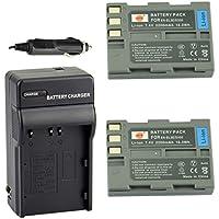 DSTE® アクセサリーキット Nikon EN-EL3E 互換 カメラ バッテリー 2個+充電器キット対応機種 D70 D70S D80 D90 D100 D200 D300 D300S D700