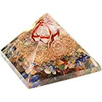ハッピーボム Happy Bomb ピラミッド オルゴナイト ヒマラヤ水晶 マルカバスター入 約65mmサイズ 強運 癒し 浄化 天然石 パワーストーン 置物 オルゴンエネルギー パワースポット創造