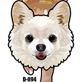 D-094 チワワ(白-長毛)-犬の振り子時計