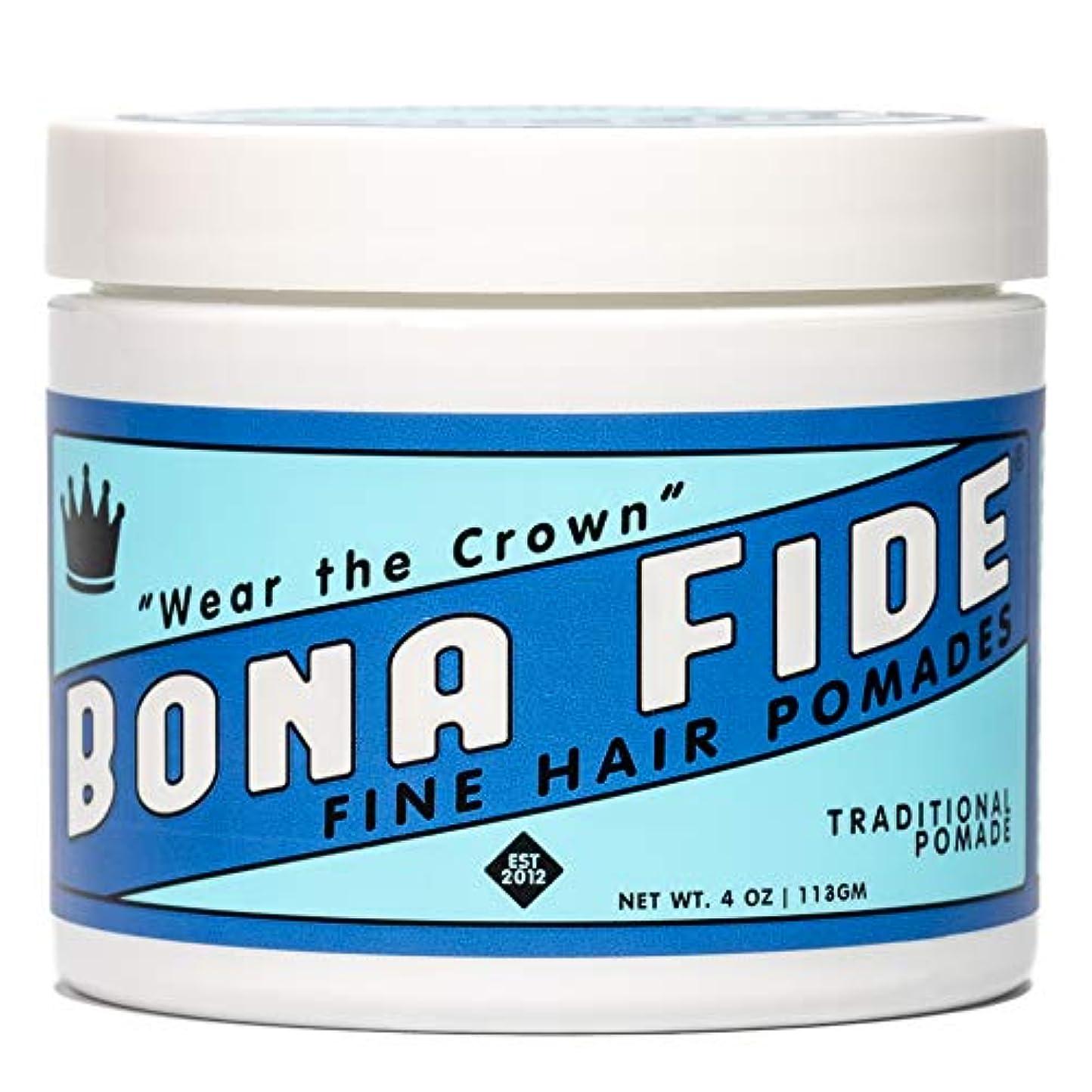 優しい製作分散Bona Fide Pomade, トラディショナルポマード, TRADITIONAL POMADE, 4oz (113g)、オイルベースポマード (整髪料/ヘアー スタイリング剤)