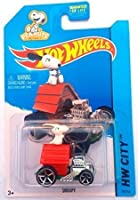 2015 Hot Wheels Snoopy with Dog House Car Peanuts Charlie Brown Charles Schulz * Vehicle #59/250