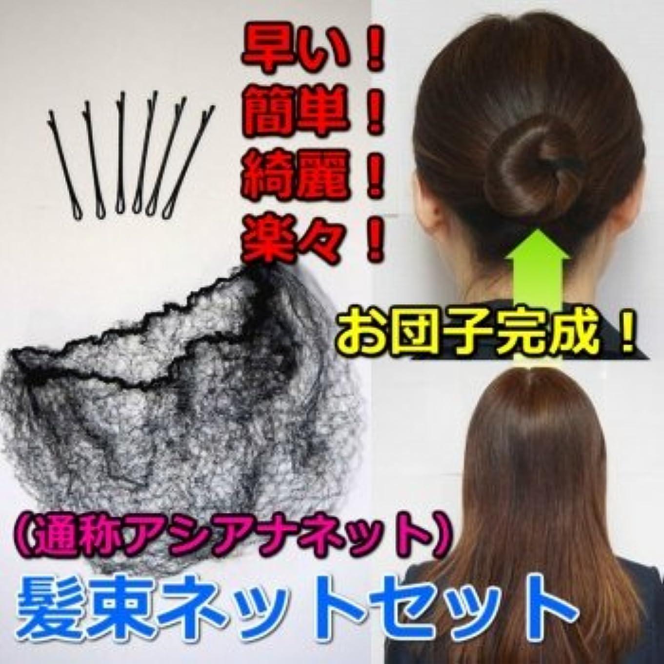 ドラム贅沢ケープ髪束ねネットセット(アシアナネット) 50枚セット