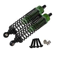 Mxfans 2個入れ 100MM Upgrade Parts Aluminium F106004 RCショックアブソーバー RC1:10オフロードカー用 (グリーン )