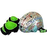 ラングスジャパン (RANGS) ジュニアスポーツヘルメット ピース レッド (プロテクター付)