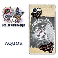 スカラー scr50191 スマホケース スマホカバー SHV33 シャープ SHARP AQUOS SERIE mini アクオス 猫柄 グランジペーパー かわいい ファッションブランド