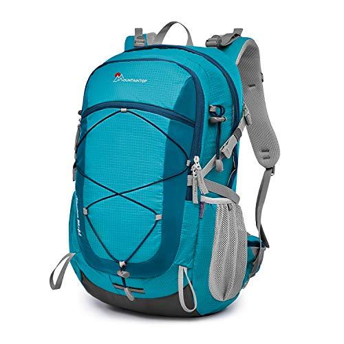 マウンテントップ(Mountaintop) バックパック 40L リュック 登山 ザック アウトドア 旅行用 バッグ リュックサック 防水 軽量 レインカバー付き (02 レイクグリーン(40L))