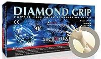 Microflex MF-300-L Diamond Grip Exam Gloves,PF Latex,Textured Fingers,Large,100 per Box,10 Box per Case (Pack of 1000) [並行輸入品]