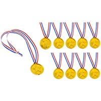 (ライチ) Lychee 24個セット おもちゃメダル プラスチック製 直径3.8cm 子供用 運動会 スポーツ コンテスト お祭り ごほうび 金メダル 小学校 保育園 幼稚園