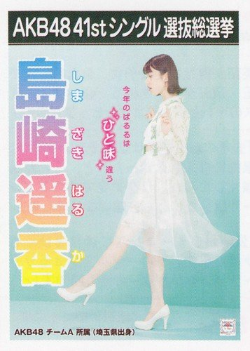 AKB48 公式生写真 41stシングル 選抜総選挙 僕たちは戦わない 劇場盤 【島崎遥香】