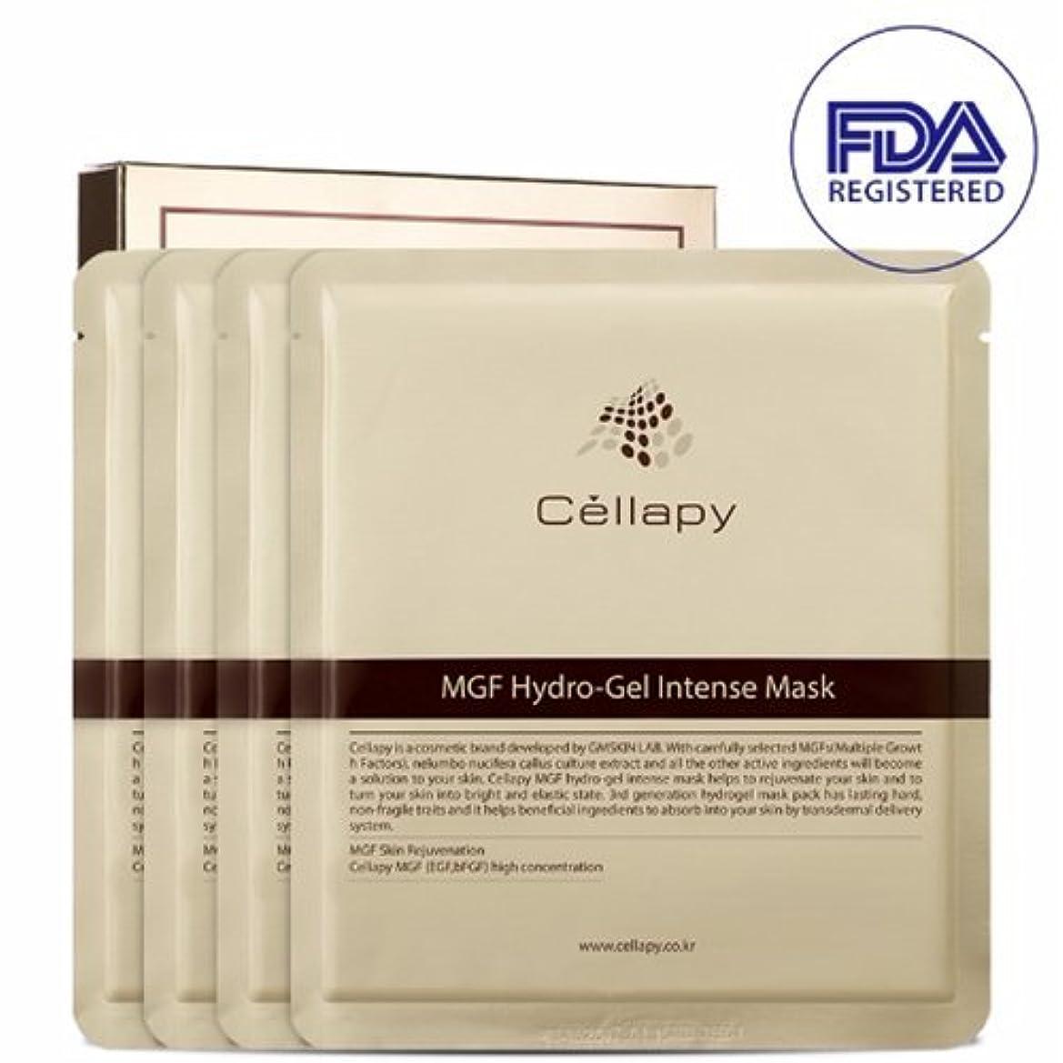 ストレスの多いアシスタントインクセルラピ MGFハイドロゲルインテンスマスクシート25g*4枚セット[並行輸入品] / Cellapy MGF Hydro-Gel Intense Mask Sheet 25g 4pcs Set for Irritable...