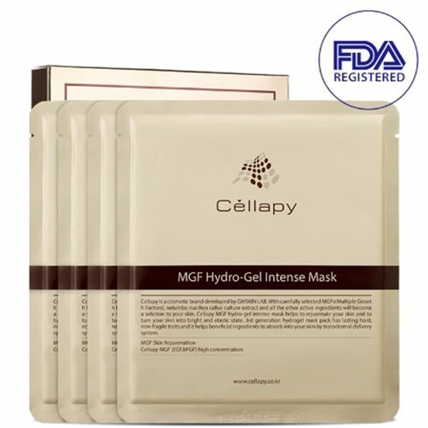 カラス操作宗教的なセルラピ MGFハイドロゲルインテンスマスクシート25g*4枚セット[並行輸入品] / Cellapy MGF Hydro-Gel Intense Mask Sheet 25g 4pcs Set for Irritable...