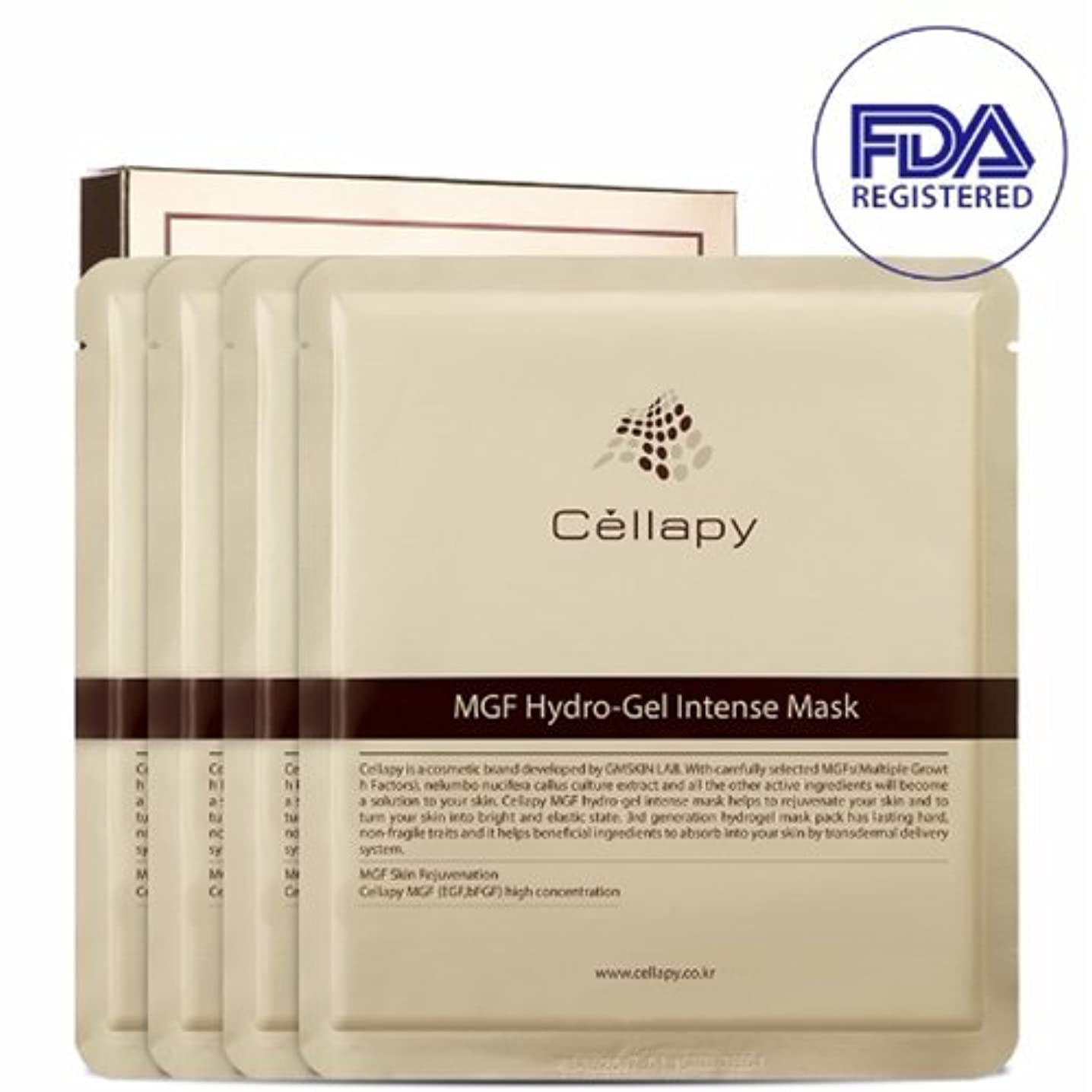 暴力的なピアニストセルラピ MGFハイドロゲルインテンスマスクシート25g*4枚セット[並行輸入品] / Cellapy MGF Hydro-Gel Intense Mask Sheet 25g 4pcs Set for Irritable...