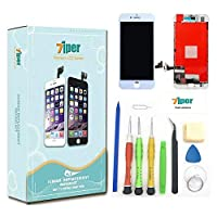 7iper Screen Replacement for iPhone 7 4.7 inch - LCD Display Touch Screen Digitizer Frame Replacement Full Assembly with 3D Touch Tempered Glass Repair Tools Kit and Instructions (White) [並行輸入品]