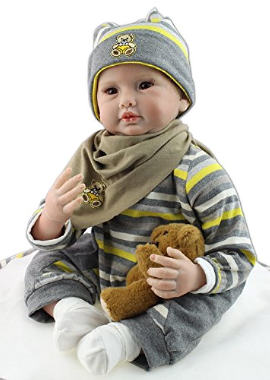 NPK COLLECTION 55cm リボーンドール ドール ベビードール きせかえ人形 誕生日プレゼント 新年プレゼント 人形