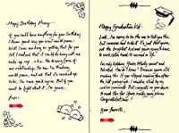 Quiplip Handwritten Yours Truly Birthday Cards 6-Pack (YT09196PCK) [並行輸入品]