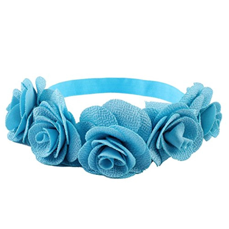 Dovewill 子供 女の子 花嫁介添人 シフォン ヘアバンド お花飾り ヘッドドレス  髪飾り 贈り物 全5色