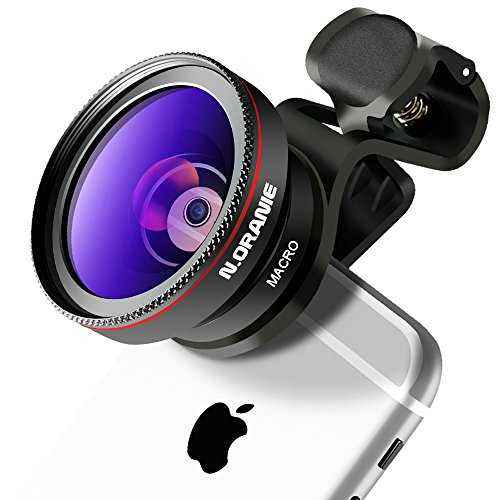N.ORANIE スマホ用カメラレンズ 0.45倍広角レンズ 15 X マクロレンズ 5cm超大口径 クリップレンズ 2in1 自撮りレンズ 全機種対応