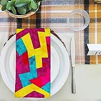 artzfolio幾何学スタイルテーブルナプキンサテン生地 16inch x 16inch; SINGLE PIECE AZKIT39452538NAP_TB_L_01-S1_SN