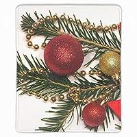 マウスパッド おしゃれ 高耐久性 滑り止め 防水 PC ラップトップ 水洗い クリスマスデコレーションスター レーザー 光学式 25*30cm