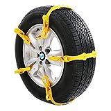 【 緊急時に役立つ 取付簡単タイプ 】 簡易 タイヤ チェーン 10本 セット 2輪分 専用 ケース 付属 ソフト プラスチック 軽量 事故 防止 フリー サイズ (タイヤ幅 145mm ~ 285mm対応 ) SD-SHARECHAIN