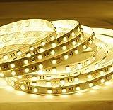 Minger 強力粘着両面テープ LEDテープ コンプリートセット 電球色 5m 12V 白ベース 正面発光
