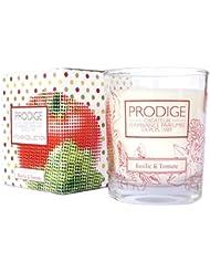 キッチンコレクション グラスキャンドル バジル&トマト 110g