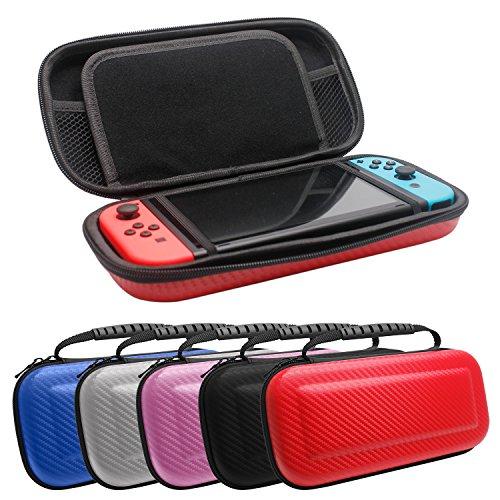Nintendo Switchケース Nintendo Switch収納バッグ 高品質ハードポーチ 耐衝撃 防塵 防水 ニンテンドースイッチ ケース スリムハードポーチ for Nintendo Switch ブルー