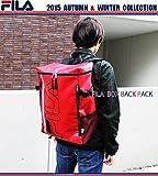 フィラ FILA フィラ BOX ボックス型 バックパック ターポリン リュック ラバープリント デイパック デカリュック ハコリュック 箱リュック リュックサック メンズ レディース ユニセックス カジュアル 鞄 通勤通学 男女兼用 旅行 アウトドア