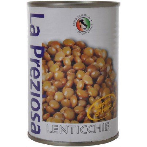 ラ・プレッツィオーザ レンティル(レンズ豆)水煮缶400g