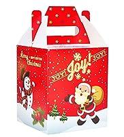 10クリスマスクリスマスギフトボックス、サンタクロースと雪だるま装飾
